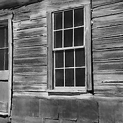 Wood Shack Facade - Bodie, CA - Black & White