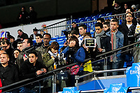 20120128: MADRID, SPAIN - Santiago bernabeu Stadium. Madrid. Spain. Football match between Real Madrid CF and  Real Zaragoza. BBVA League. In picture Real Madrid fans<br />
