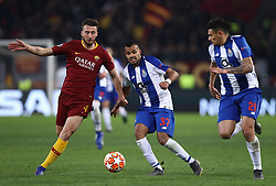 February 12, 2019 - Rome, Italy - AS Roma v FC Porto : UEFA Champions League Round of 16 . Bryan Cristante of Roma and Fernando of Porto at Olimpico Stadium in Rome, Italy on February 12, 2019..Photo Matteo Ciambelli / NurPhoto  (Credit Image: © Matteo Ciambelli/NurPhoto via ZUMA Press)