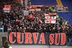 February 3, 2019 - Rome, Italy - AC milan supporters  during the Italian Serie A football match between A.S. Roma and A.C. Milan at the Olympic Stadium in Rome, on february 03, 2019. (Credit Image: © Silvia Lore/NurPhoto via ZUMA Press)