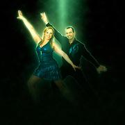 Digitally enhanced image of a Couple of ballroom dancers