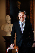 Vermont Governor Peter Shumlin, pictured in the ceremonial office at the State House, is in favor of the legalization of marijuana in Vermont. (Jacob Hannah for The New York Times)