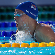 Thomas Haffield, Great Britain, in action during the Men's 400m IM heats at the World Swimming Championships in Rome on Sunday, August 02, 2009. Photo Tim Clayton.