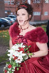 Bride on her wedding day,