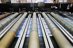 July 26, 2018 - Nanton, Nanton, China - Nantong, CHINA-Workers at a bleached fabric manufacturing factory in Nantong, east China's Nantong Province. (Credit Image: © SIPA Asia via ZUMA Wire)