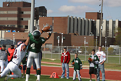22 October 2005: Touchdown for Titan receiver Jordan Mussleman. The Illinois Wesleyan Titans posted a 23 - 14 home win by squeeking past the Thunder of Wheaton College at Wilder Field (the 5th oldest collegiate field in the US) on the campus of Illinois Wesleyan University in Bloomington IL