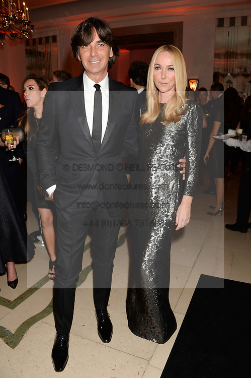FRIDA GIANNINI and PATRIZIO DI MARCO at the Harper???s Bazaar Women of the Year 2013 in association with Estée Lauder, Audemars Piguet and Selfridges & Co. held at Claridge's, Brook Street, London on 5th November 2013.