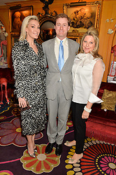 Left to right, OLIVIA BUCKINGHAM, TOM NAYLOR-LEYLAND and SERENA FRESSON at a party to celebrate Alice Naylor-Leyland's Collaboration with French Sole held at Annabel's, 44 Berkeley Square, London on February 2nd 2016