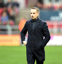 Mark Sampson, Manager of England Women at Ashton Gate - Photo mandatory by-line: Paul Knight/JMP - Mobile: 07966 386802 - 29/11/2015 - SPORT - Football - Bristol - Ashton Gate Stadium - England v Bosnia and Herzegovina - Euro 2017