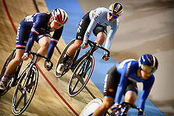 March 2, 2018 - Apeldoorn, NETHERLANDS - Belgian Lotte Kopecky pictured in action during the Scratch race part of the omnium women event at the 2018 world championships track cycling in Apeldoorn, the Netherlands, Friday 02 March 2018. The track cycling worlds take place from 28 February to 04 March. BELGA PHOTO YORICK JANSENS (Credit Image: © Yorick Jansens/Belga via ZUMA Press)