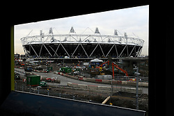 Olympic bosses back West Ham bid, West Ham have won the backing of Olympic bosses to take over the 2012 stadium in east London after the Games, BBC London reports.© under license to London News Pictures. .2010,12,10,   Today  (Friday)  .The Olympic Stadium being built in Stratford, East London, will host the Athletics and Paralympic Athletics events at the London 2012 Games, as well as the Opening and Closing Ceremonies..A view from the view tube building window..Picture credit should read Grant Falvey/London News Pictures...