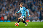 Bernardo Silva (#20) of Manchester City FC during the Champions League quarter-final leg 2 of 2 match between Manchester City and Tottenham Hotspur at the Etihad Stadium, Manchester, England on 17 April 2019.