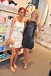 Left to right, SASHA VOLKOVA and MEREDITH OSTROM at a party to celebratethe opening of the Lacoste Flagship Store at 44 Brompton Road, Knightsbridge, London on 20th June 2012.