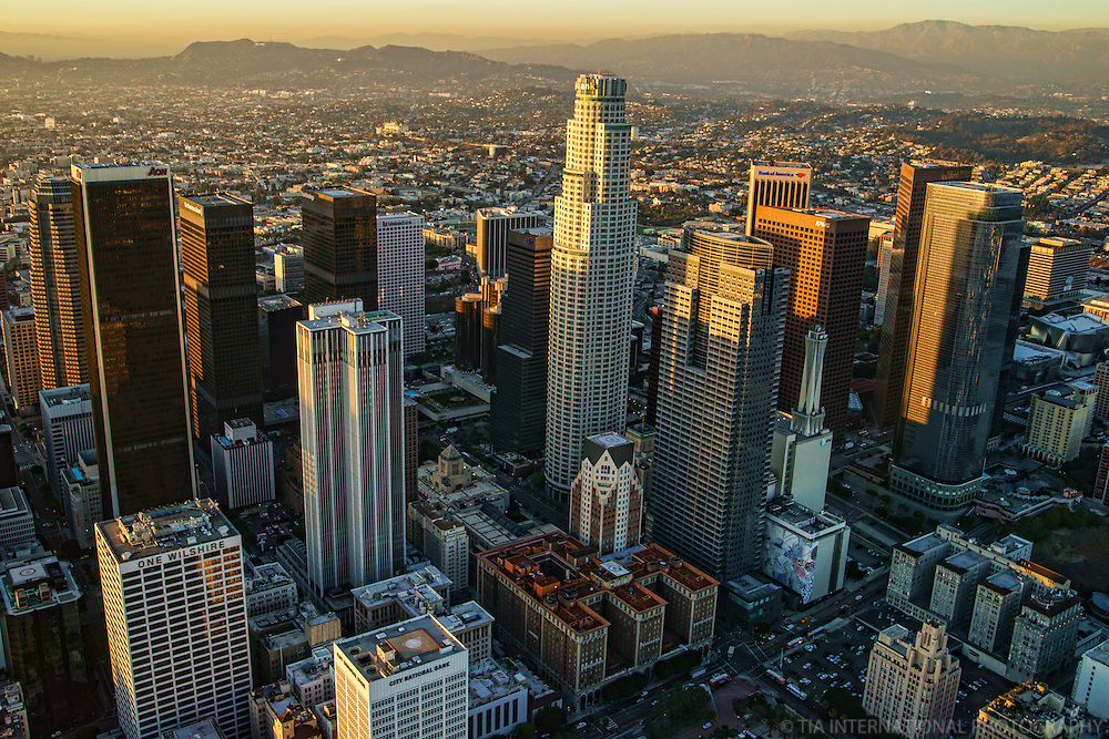 Los Angeles Skyline & Santa Monica Mountains