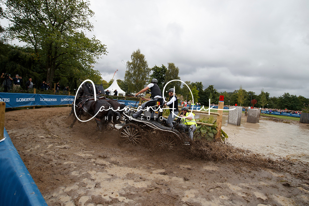 Simonet Edouard, BEL, Bouke, Dark Dream, El Fierro v Vemmekeshoeve d 07<br /> FEI European Driving Championships - Goteborg 2017 <br /> &copy; Hippo Foto - Dirk Caremans<br /> 26/08/2017,