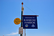 Long Beach Rainbow Harbor Welcome Sign