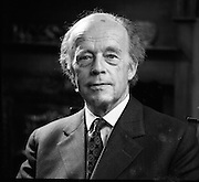 Erskine Childers At Home.1973..16.04.1973..04.16.1973..16th April 1973..After his nomination as party candidate for Fianna Fail, Mr Erskine Childers was photographed at his home in a relaxed athmosphere..A portrait of Mr Erskine Childers.