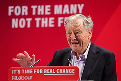 © Licensed to London News Pictures. 26/11/2019. London, UK. LORD ALF DUBS speaks at the launch of Labour Party's Race and Faith Manifesto at the Bernie Grant Arts Centre in Tottenham, North London. DAWN BUTLER launched the Race and Faith consultation at Labour Party conference, which received over 1,700 online responses, and held consultation events across the country to get to the issues affecting Black, Asian and Minority Ethnic (BAME) and faith communities. Photo credit: Dinendra Haria/LNP