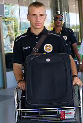 Dejan Skolnik at arrival of Portugal football team Clube Desportivo Nacional da Madeira to Slovenia, on August 2, 2010 at Airport Joze Pucnik, Brnik, Slovenia. (Photo by Vid Ponikvar / Sportida)