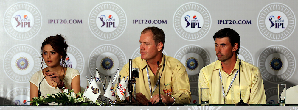 Press Conference  during the Pepsi IPL Player Auction held at the ITC Gardenia in Bengaluru, India on the 12th February 2014<br /> <br /> Photo by Sandeep Shetty/BCCI/SPORTZPICS