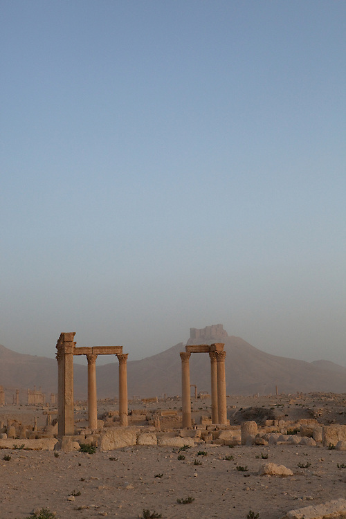 Early morning, the day after a sandstorm, at Palmyra ruins, Syria