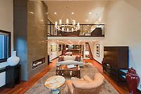 Modern living room in luxury villa