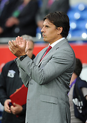 Wales Manger, Chris Coleman  - Photo mandatory by-line: Alex James/JMP - Tel: Mobile: 07966 386802 14/08/2013 - SPORT - FOOTBALL - Cardiff City Stadium - Cardiff -  Wales V Republic of Ireland - International Friendly