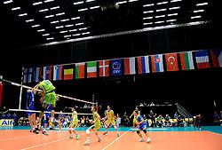 21-09-2013 VOLLEYBAL: EK MANNEN SLOVENIE - FINLAND: HERNING<br /> Hal Jyske Bank Boxen sporthal, Klemen Cebulj<br /> ©2013-FotoHoogendoorn.nl<br />  / SPORTIDA