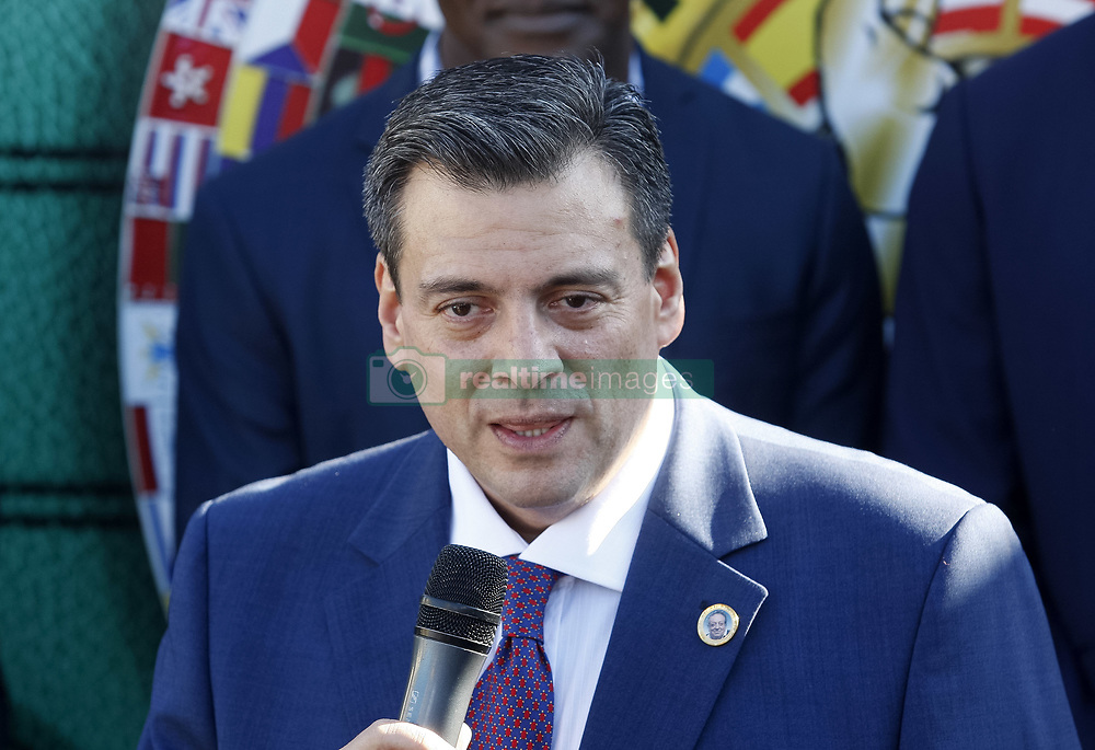 October 1, 2018 - Kiev, Ukraine - WBC President Mauricio Sulaiman speaks during an official opening of the 56th WBC ( World Boxing Council ) Convention in Kiev, Ukraine, 01 October, 2018. The 56th WBC Convention takes place in Kiev from September 30 to October 05. The event participate of boxing legends Lennox Lewis, Evander Holyfield, Eric Morales, Alexander Usik, Vitali Klitschko and about 700 congress participants from 160 countries. (Credit Image: © Str/NurPhoto/ZUMA Press)