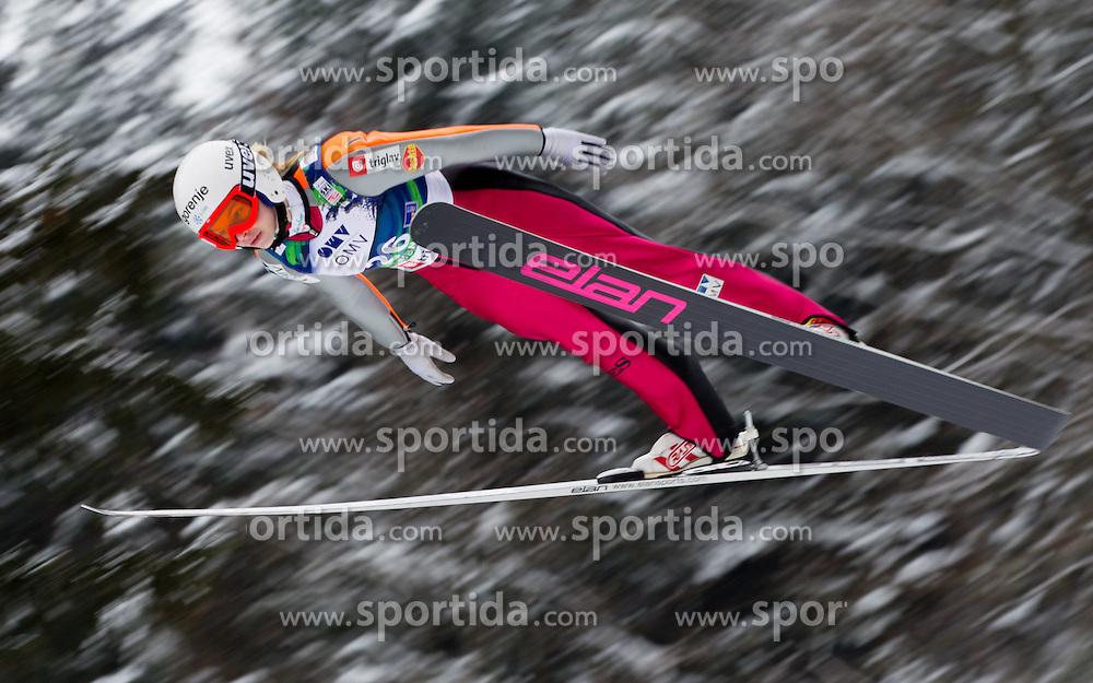 Spela Rogelj of Slovenia during Normal Hill Individual Competition at FIS World Cup Ski jumping Ladies Ljubno 2012, on February 12, 2012 in Ljubno ob Savinji, Slovenia. (Photo By Vid Ponikvar / Sportida.com)