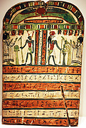 Votive stele of Takasu for the gods Harmachis and Atum. 25/26 dynasty Thebes.