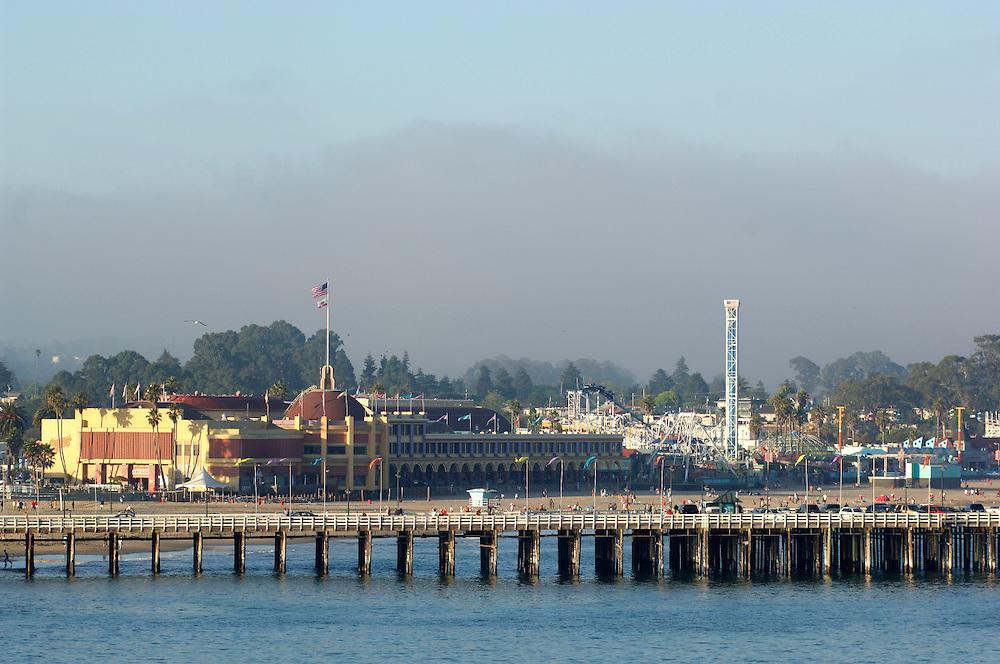 view to Santa Cruz Pier, Lighthouse Field State Park, Santa Cruz, California, United States of America