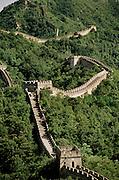Serpentine Great Wall of China at Mutianyu. China.