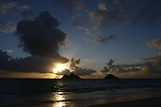 Aug. 10, 2008; Kailua, HI - View of Mokulua Islands at sunrise from Lanikai Beach...Photo credit: Darrell Miho
