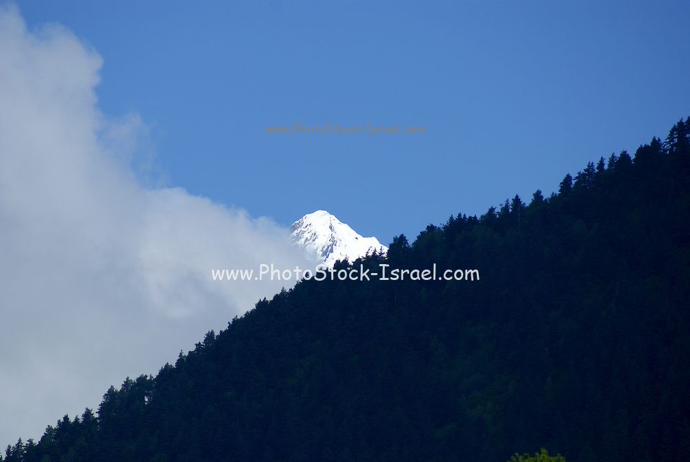 Georgia, Svaneti Region, Mountain landscape