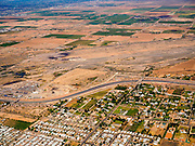 02 MAY 2015 - PHOENIX, ARIZONA, USA:  The Salt River Indian Reservation near Scottsdale and Mesa, AZ. The Loop 202 Red Mountain Freeway runs through the center of the photo, Mesa is at the bottom of the frame.   PHOTO BY JACK KURTZ