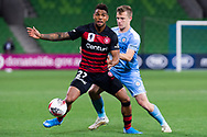 MELBOURNE, AUSTRALIA - SEPTEMBER 18: Kwame Yeboah (27) of the Wanderers defends the ball during the FFA Cup Quarter Finals match between Melbourne City FC and Western Sydney Wanderers FC at AAMI Park on September 18, 2019 in Melbourne, Australia. (Photo by Speed Media/Icon Sportswire)