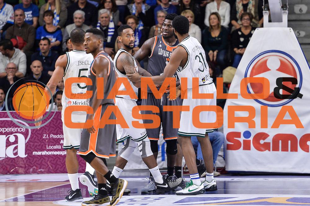 David Lighty, Mouphtaou Yarou<br /> Banco di Sardegna Dinamo Sassari - Le Mans Sarthe<br /> FIBA Basketball Champions League 2016/2017<br /> Ottavi di Finale<br /> Sassari 01/03/2017<br /> Foto Ciamillo-Castoria