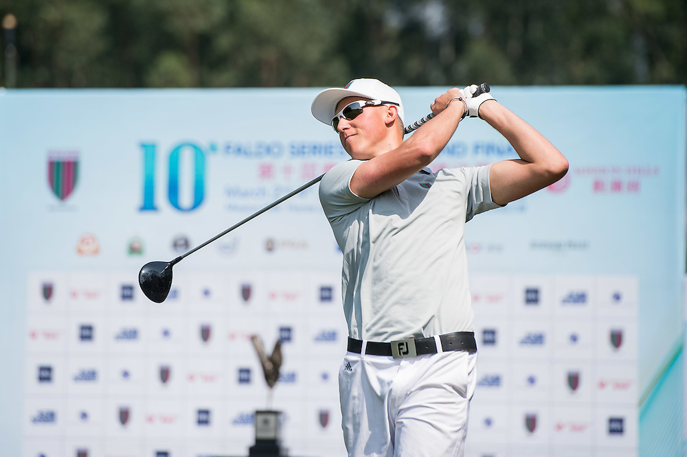Dario Antonisse of Netherlands in action during day one of the 10th Faldo Series Asia Grand Final at Faldo course in Shenzhen, China. Photo by Xaume Olleros.