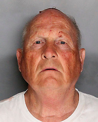 Apr 25, 2018 - Sacramento, California, U.S. - Suspected Serial Killer JOSEPH JAMES DEANGELO, known as 'The Golden State Killer,' is seen in this police booking photo after being apprehended. Sacramento law enforcement leaders announced Wednesday they arrested the man they believe was the East Area Rapist, also known as the Golden State Killer,  who killed and terrorized people in the 1970s and 1980s. (Credit Image: © Sacramento County Sheriff's Department via ZUMA Wire)