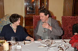 FAY MASCHLER and MARCO PIERRE WHITE at lunch at a lunch hosted by Fortnum & Mason, Piccadilly, London on 29th January 2015 in honour of Marco Pierre White and the publication of White Heat 25.