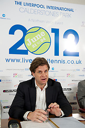 LIVERPOOL, ENGLAND - Wednesday, April 18, 2012: Tournament Director Anders Borg during a press conference to launch the 2012 Liverpool International Tennis Tournament at the Hilton Hotel. (Pic by David Rawcliffe/Propaganda)