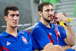Krstic of Serbia during basketball match between National teams of Slovenia and Serbia in day 3 of Adecco cup, on August 5, 2012 in Arena Stozice, Ljubljana, Slovenia. (Photo by Vid Ponikvar / Sportida.com)