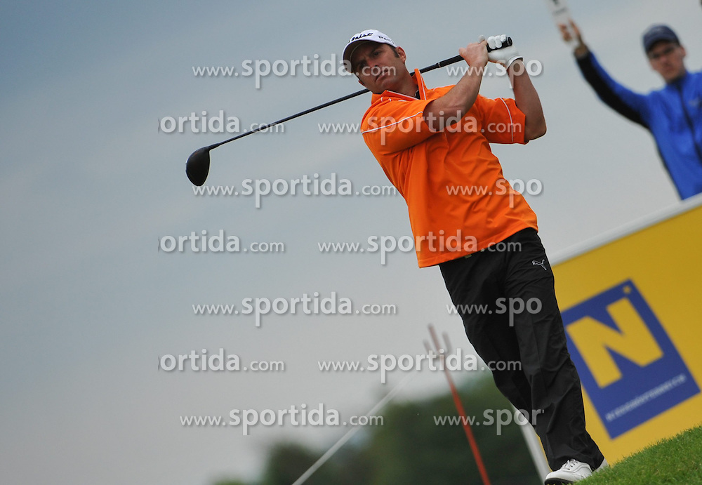 05.06.2014, Country Club Diamond, Atzenbrugg, AUT, Lyoness Golf Open, im Bild Mark Tullo (CHI) // Mark Tullo (CHI) in action during the Austrian Lyoness Golf Open at the Country Club Diamond, Atzenbrugg, Austria on 2014/06/05. EXPA Pictures © 2014, PhotoCredit: EXPA/ Sascha Trimmel