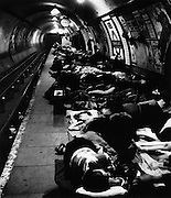 Elephant and Castle underground station during WWII 1942