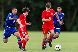 WREXHAM, WALES - Tuesday, August 13, 2019: Wales' captain Ben Lloyd during the UEFA Under-15's Development Tournament match between Wales and Cyprus at Colliers Park. (Pic by Paul Greenwood/Propaganda)