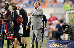 July 19, 2017 - Philadelphia, PA, USA - Philadelphia, PA - Wednesday July 19, 2017: Bruce Arena during a 2017 Gold Cup match between the men's national teams of the United States (USA) and El Salvador (SLV) at Lincoln Financial Field. (Credit Image: © John Dorton/ISIPhotos via ZUMA Wire)