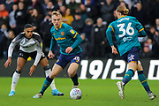 Hull City forward Jarrod Bowen during the EFL Sky Bet Championship match between Derby County and Hull City at the Pride Park, Derby, England on 18 January 2020.