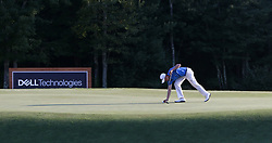 September 4, 2017 - Norton, Massachusetts, United States - Justin Thomas lines up a putt on the 18th green during the final round of the Dell Technologies Championship at TPC Boston. (Credit Image: © Debby Wong via ZUMA Wire)