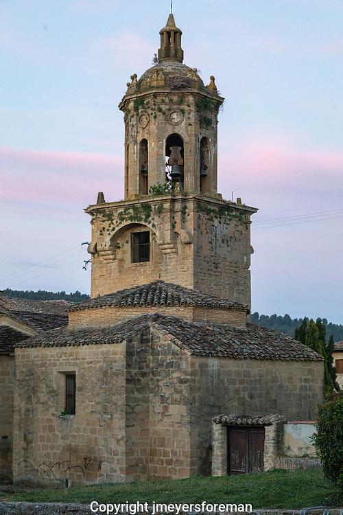 early morning on the Camino Frances, Iglesia del Crucitijo, Puente la Reina